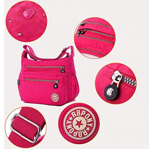 Bolsa de Gris PUrse de impermeable Bolsa Organizar nylon Mujer mensajero viajes hombro Moda de Tibes BqPxp71
