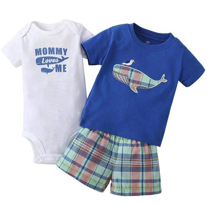 ZARLLE Venta Caliente 2018 Ropa Bebe Recien Nacido Bebé NiñO Infant Baby Boys Whale Print Tops