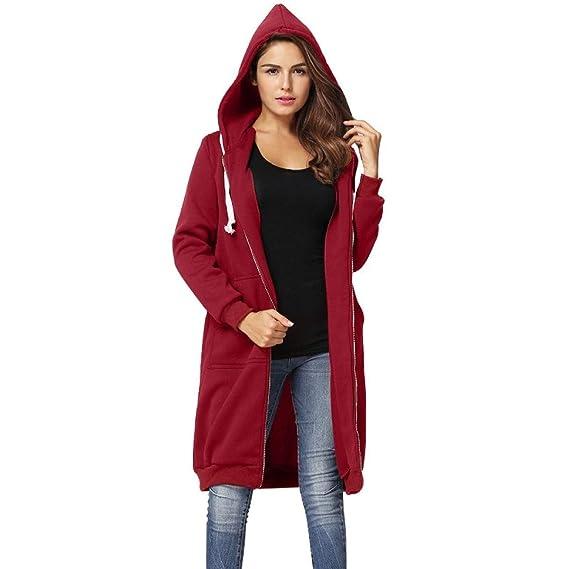 Amazon.com: FLAMINGO_STORE Hoodies for Women Hoodies Long Sweatshirt Women Casual Coat Hooded Jacket: Clothing