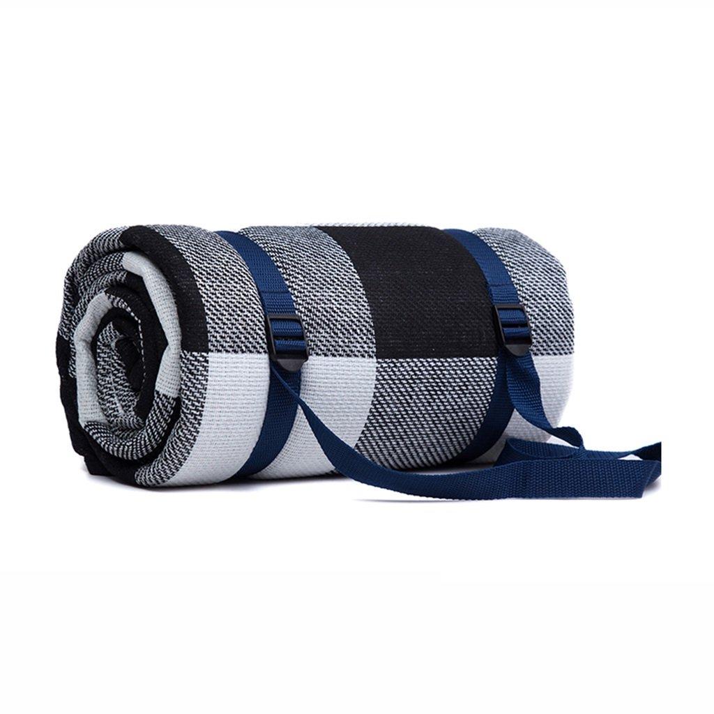 Picknickdecken 200  200 cm Picknick Matte Feuchtigkeits Pad Schwarz Grau Weiß Grid Wasserdichte Unterstützung (größe   200  200cm)