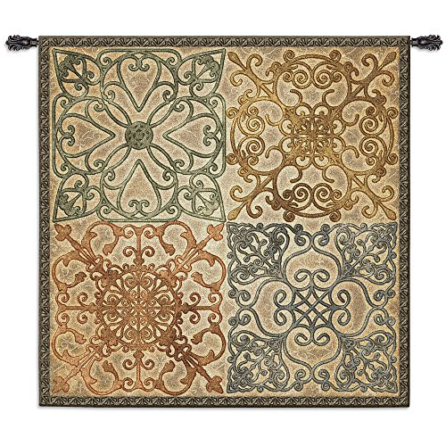 Elegance Wall Hanging (Fine Art Tapestries Wrought Iron Elegance Wall Tapestry, Large)