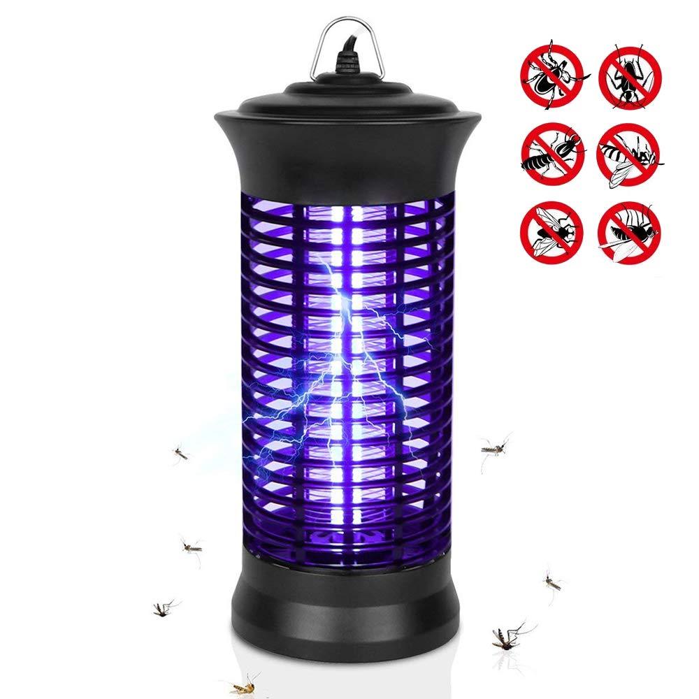 Eocol Mosquito Killer Lamp, Bug Zapper Flying Insect Catcher Killer Pest Repeller Light Lamp Trap Hook Indoor Outdoor - Black Upgrade by Eocol