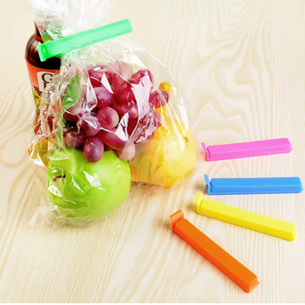 alokie 5er Pack beutelverschluss Clips Clip di lunghezza 11cm, sacchetto per alimenti e snack