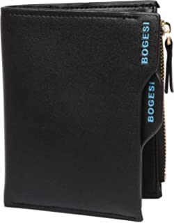 Bogesi Premium Bifold Leather Men's Wallet, Black