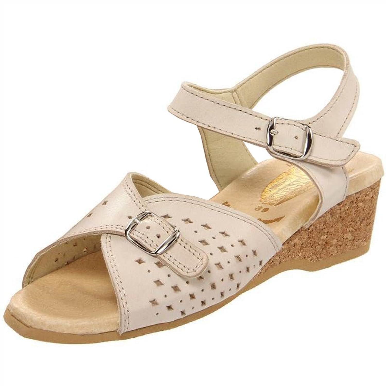 Women's Worishofer 811 Beige Low Heel Sandal
