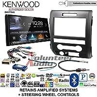 Volunteer Audio Kenwood DMX7704S Double Din Radio Install Kit with Apple CarPlay Android Auto Bluetooth Fits 2009-2014 F-150