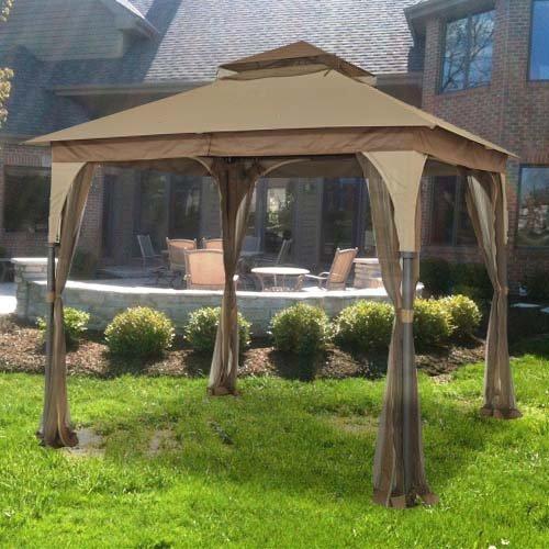 Garden winds 8 x 8 outdoor patio gazebo replacement canopy for Garden winds replacement canopy