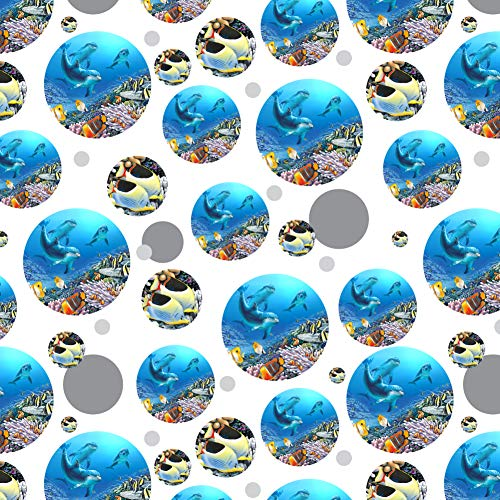 (GRAPHICS & MORE Ocean Underwater Dolphins Scuba Diving Reef Premium Gift Wrap Wrapping Paper Roll)