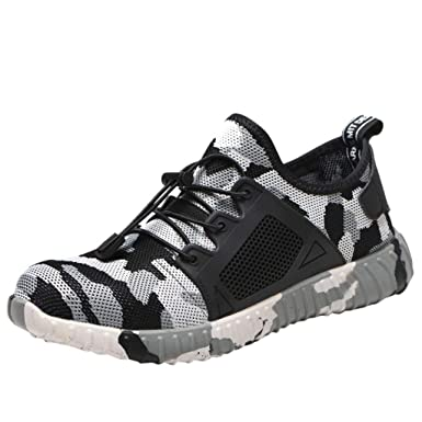 f5ddabdd63785 Amazon.com: DomdPO Men's Steel Toe Indestructible Work Shoes ...