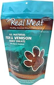 The Real Meat Company 828007 Dog Jerky Fish/Venison Treat, 12-Ounce