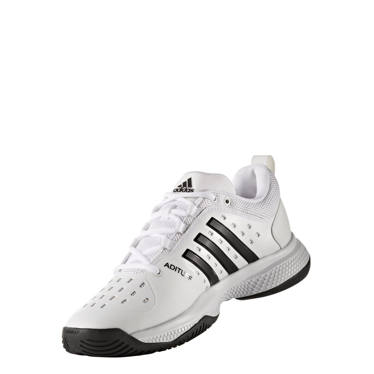 adidas Men's Barricade Classic Bounce Tennis Shoes, White/Black/White, (10.5 M US) by adidas