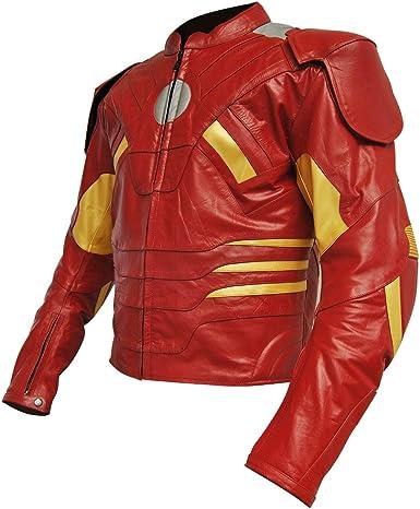 SRHides Mens Fashion Iron Real Leather Jacket