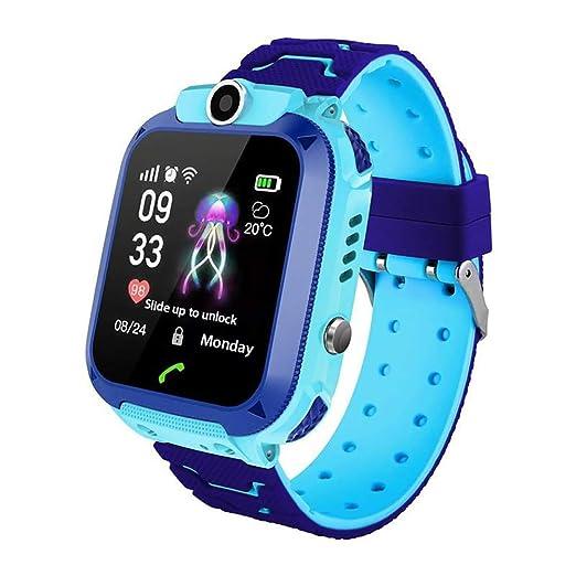 Localizador GPS Niños, Reloj GPS Niños Localizador Con SOS Anti-Lost Alarm Para Tarjeta Pantalla Táctil Smartwatch Para 3-12 Años De Edad Regalo De ...