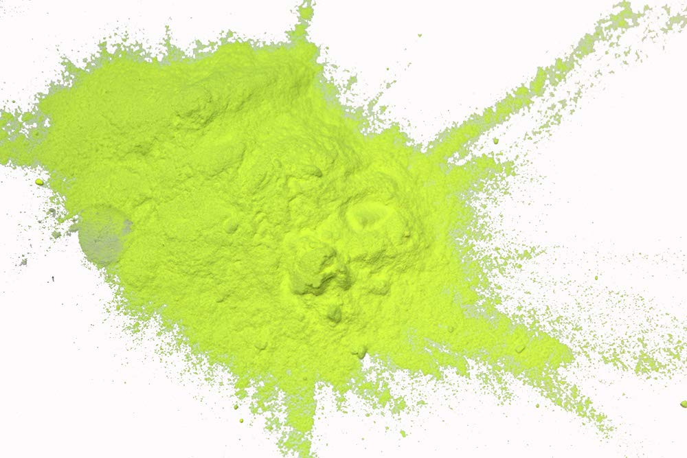 Glow in The Dark Powder Daytime Visible Chartreuse Pigment 8 Ounces by Glomania