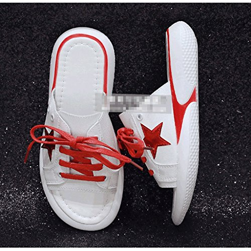 Verano de Femenina Moda 4 Tamaño Zapatillas Zapatos Desgaste de Sandalias 5 de Deportivas 8xwCO8
