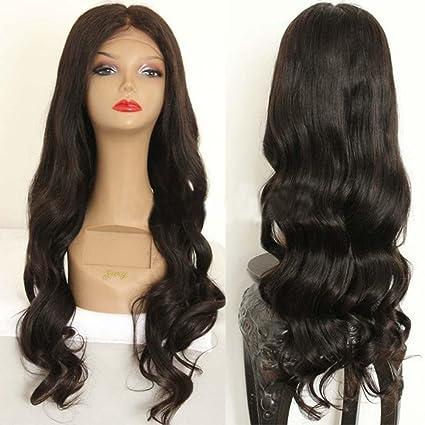 MZP Pelucas reales hechas a mano en el pelo largo pelucas llenas europeas y americanas del