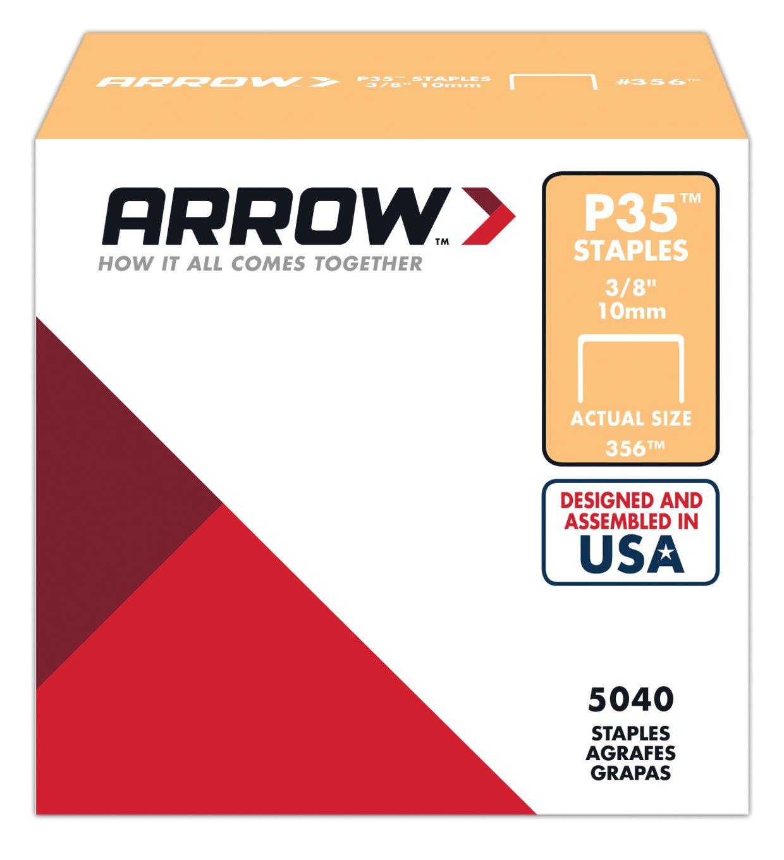 Arrow Fastener 356 Genuine P35 3/8-Inch Staples, 5,040-Pack