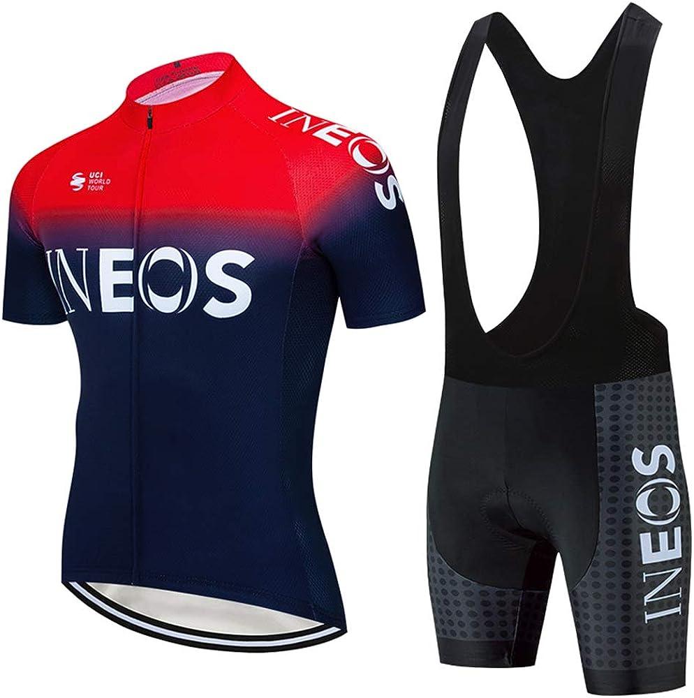 Men Cycling Jersey Bib Short Kit Bicycle Bike Shirt Team Clothing Shimano Tour d