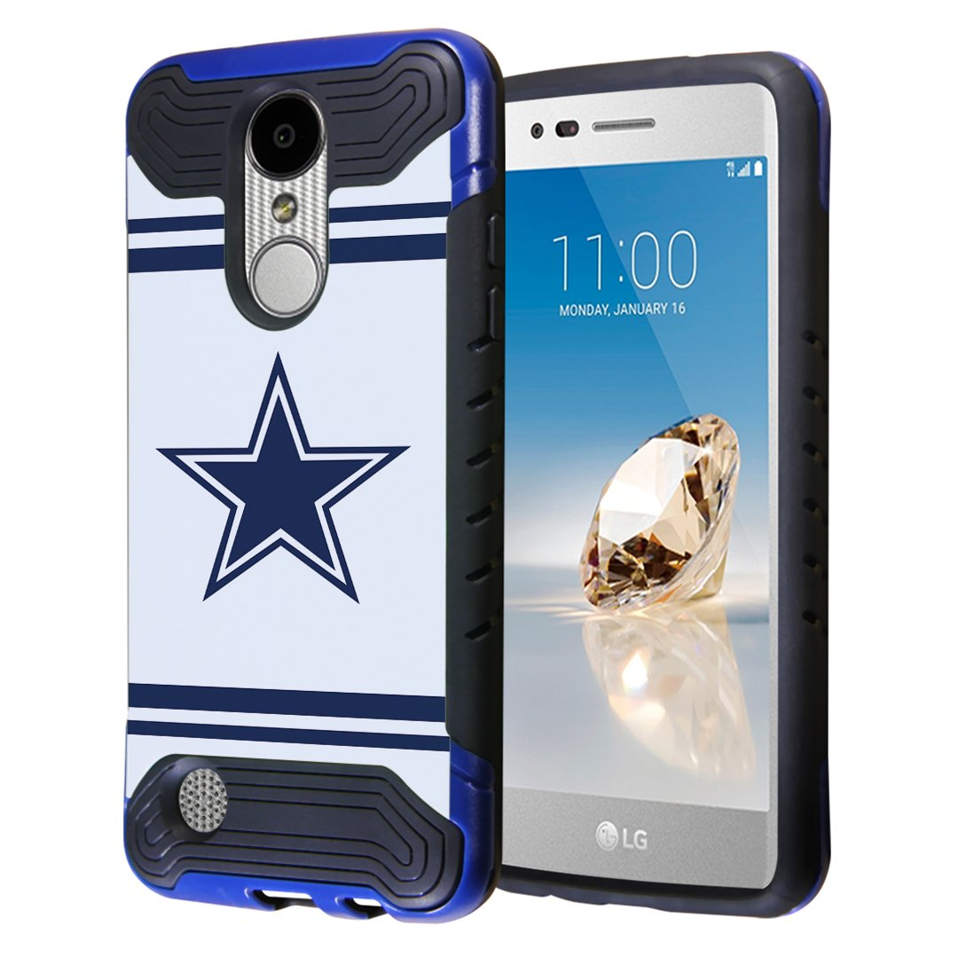 LG Aristo Case, LG Fortune Case, LG Phoenix 3 Case, Capsule-Case Hybrid Dual Layer Slim Armor Case (Blue Black) for LG Aristo/Fortune / Phoenix3 / K4 2017 / K8 2017 - (Cowboy)