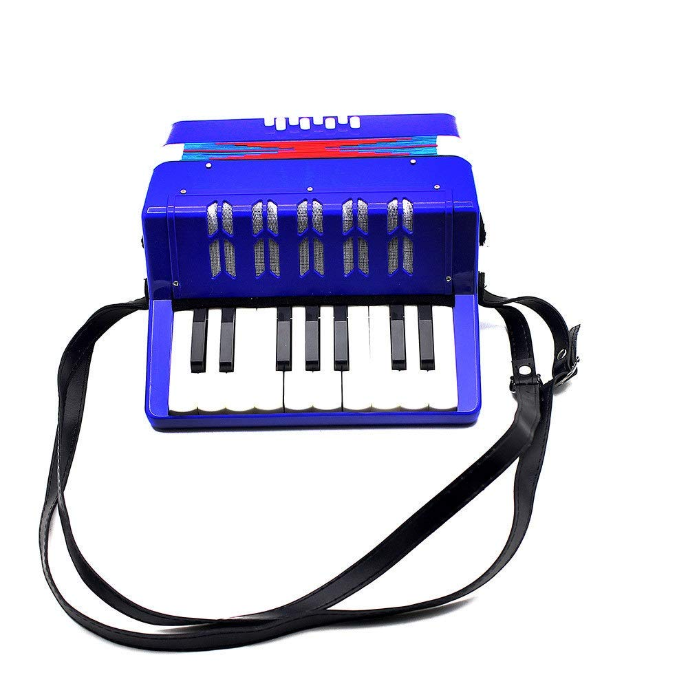 Accordion Lightweight Small Size Children's Toy Accordion Kids Piano Accordion 17 Keys 8 Bass with Straps Music Instruments for Beginners Students Educational Instrument Band Toy Children's Gift by Ybriefbag-Musical Instruments (Image #3)