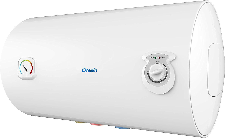 Termo el/éctrico Capacidad: 80 Litros Hogares 4 personas Otsein Dimensiones Producto: 450 x 815 mm Instalaci/ón Horizontal OHTC80H
