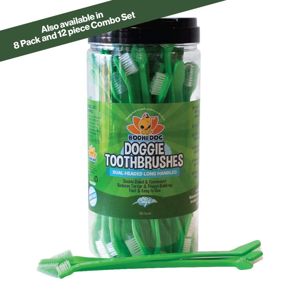 New Dual Ended Long Dog & Cat Toothbrush | Pet Safe Super Soft Bristles for Pet Dental & Oral Care Teeth & Gums
