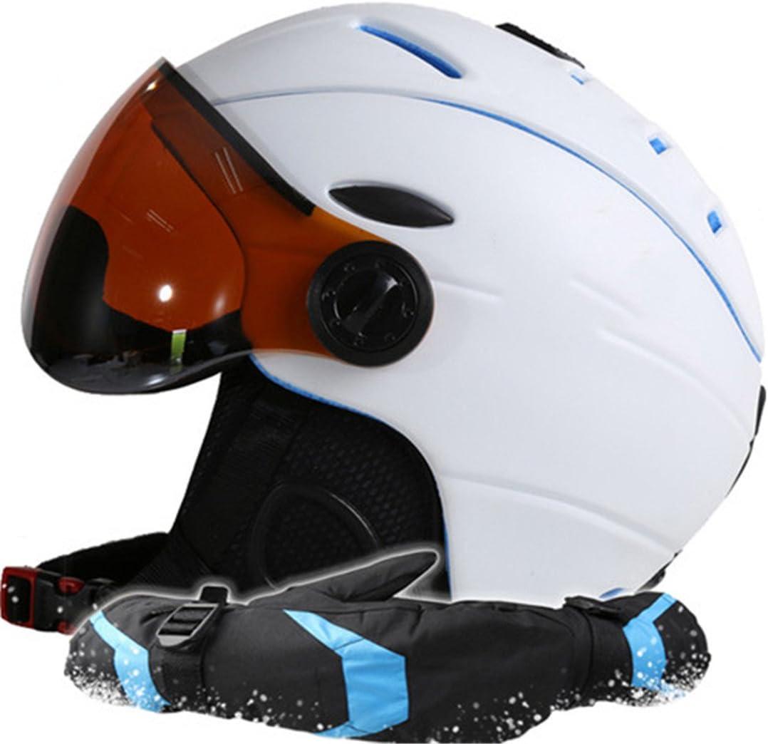 THEIRNOG - Casco de esquí para Hombre y Mujer, Guantes de ...