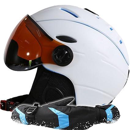 THEIRNOG - Casco de esquí para Hombre y Mujer, Guantes de esquí y Snowboard,