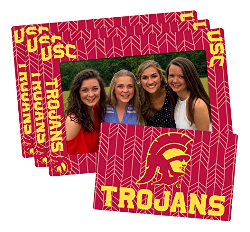 (Worthy Promo NCAA USC Trojans 4-inch by 6-inch Magnetic Frame Plus Bonus Magnet, Red, 3 Pack)