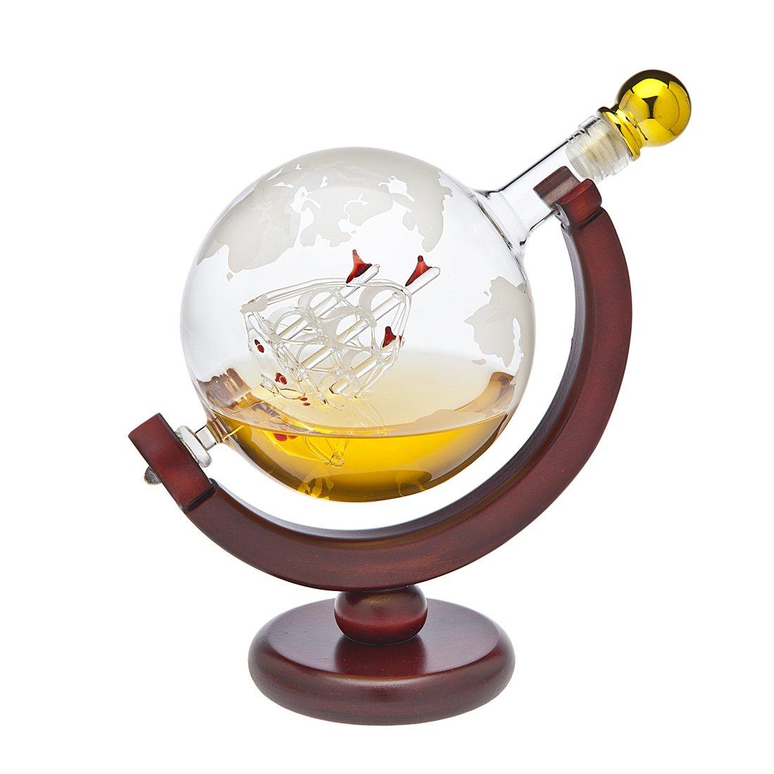 Whiskey Decanter Globe - for Liquor, Scotch, Bourbon, Vodka or Wine - 850ml by Godinger