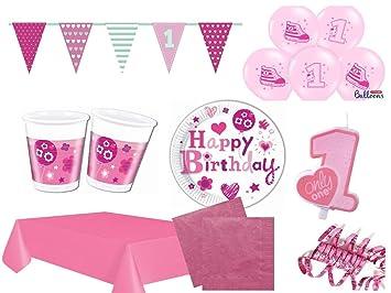 Xxl Party Deko Set 1 Geburtstag Rosa Gold Madchen Kindergeburtstag