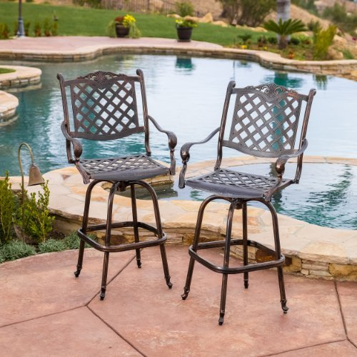 Pomelo Outdoor Cast Aluminum Bar Stools (Set of 2) Review
