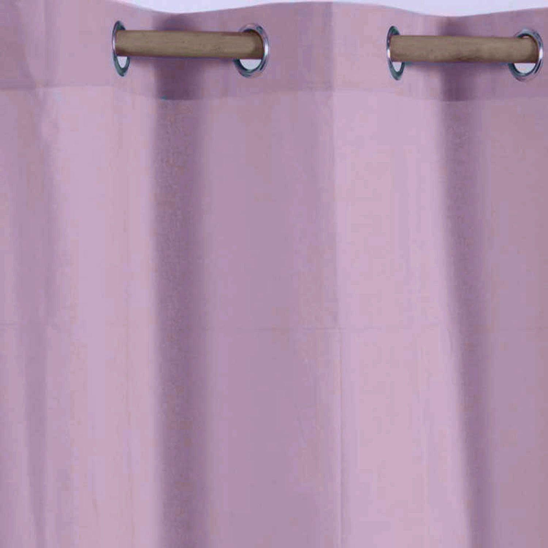 Homescapes Ösenvorhang blickdicht blickdicht blickdicht wollweiss Dekoschal 2er Set Plain Colour Breite 137 x Länge 228 cm Vorhang Paar 100% Baumwolle 7f2b45