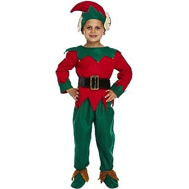 58441a28bd Unbranded Kids Child Xmas Costume Boys Girls Elf Full Suit Santa Claus  Helper Fancy Dress