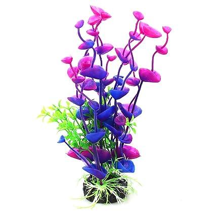 Rocita Ecológica Plantas Artificiales Acuario Pecera Planta Acuario Plástico Flor Artificial Decoración 1PC