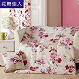 HOMEE Pillow Quilt Vehicles Sofa Cushion Office Lunch Break Pillow-Afternoon Nap Air-Conditioning is the Brightest ,45X45,,Dance Love,40×40