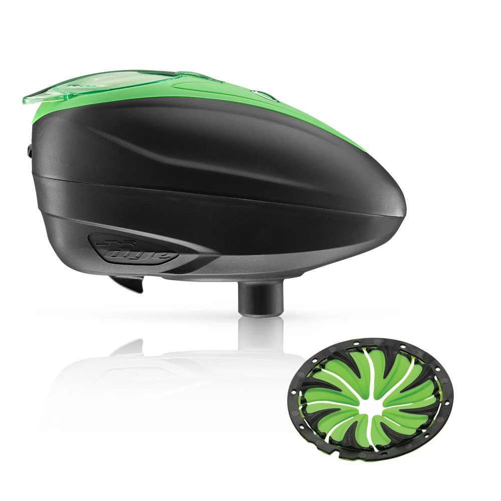 Dye LT-R Electronic Paintball Loader (Lime with Lime Quick Feed) by Dye