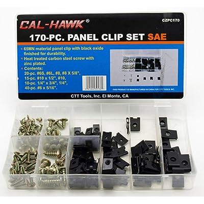 Cal-Hawk CZPC170 Auto Car Clip & Screw Kit for Dash Door Panel Interior SAE, Black: Home Improvement