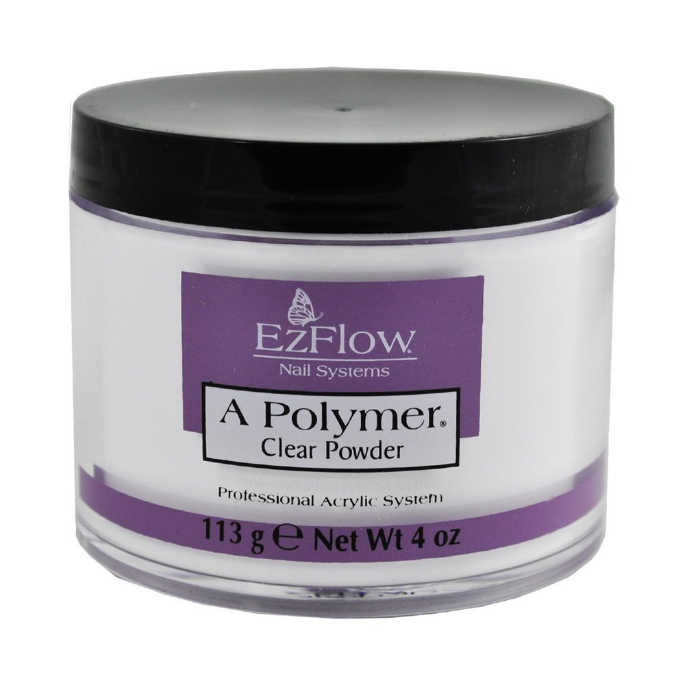 EZ FLOW A Polymer False Nails, Clear, 4 oz. EZ-66041