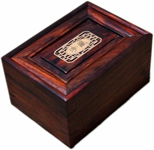 Chino antiguo madera madera caja de joyería caoba rojo jade ...
