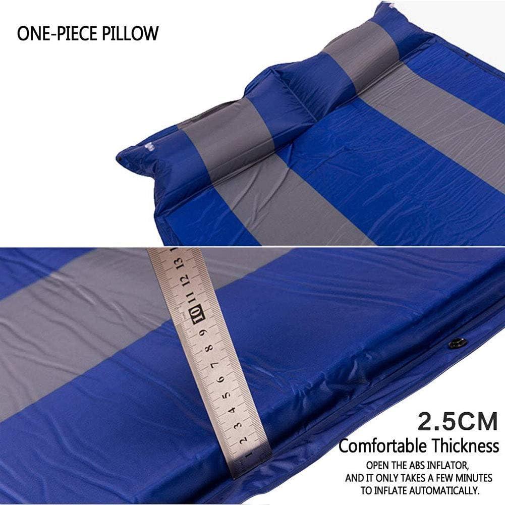 ® Campingmatte automatisch aufblasbares Kissen doppelt verbreitertes aufblasbares Zeltkissen für den Außenbereich Schlafmatte Lager 500 kg-192 * 132 * 2 5 cm Green