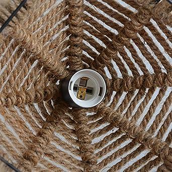 SSBY Loft de iluminación creativa Vintage American país nórdico de cáñamo proyecto araña araña Cafe Restaurante Tienda de ropa 300 * 300 mm.