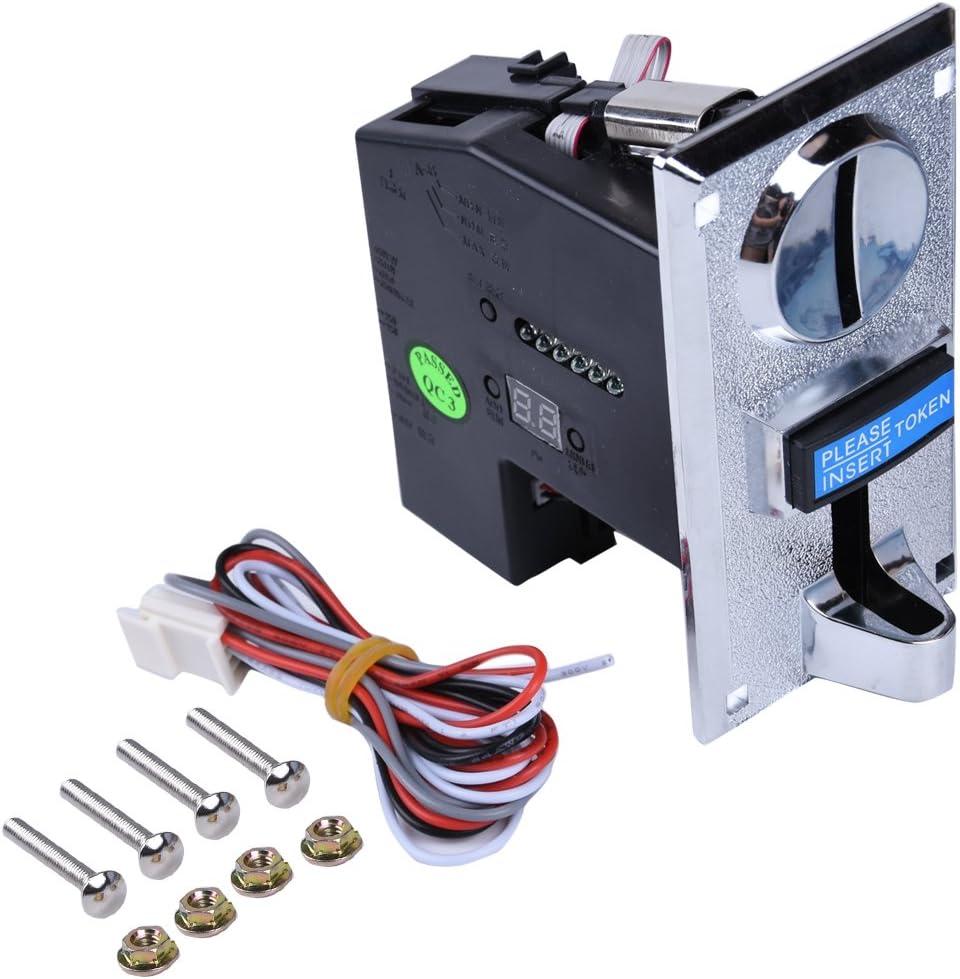 6 Clases Diferentes Monedas aceptador validador para Juegos de Video Arcade Parte de máquina expendedora y fichas de Panel colector de fichas Soporte Multi Salida de señal