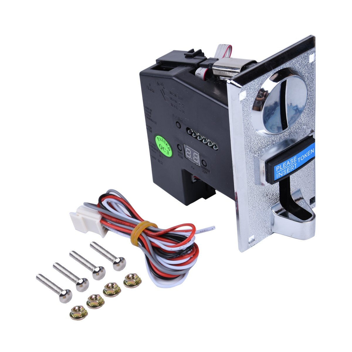 6 Kinds Different Coins Selector Acceptor Validator for Arcade Video Games Vending Machine Part and Coin-Operated Collector Panel Machines Support Multi Signal Output Yang