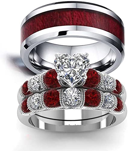 Two Rings His And Hers Wedding Ring Sets Couples Rings White Gold