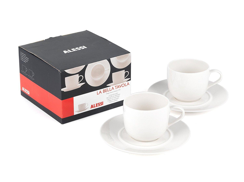 Alessi La Bella Tavola gama - Juego de 4 tazas y platillos: Amazon.es: Alimentación y bebidas