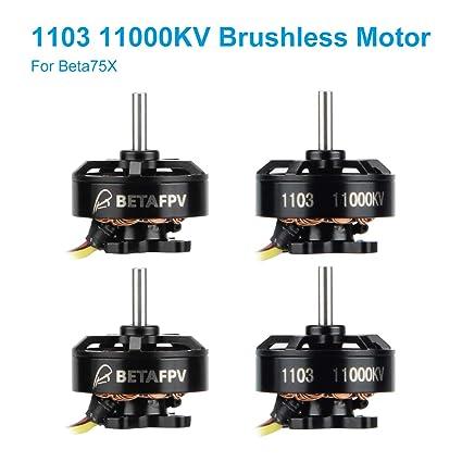 BETAFPV 4pcs 1103 11000KV Brushless Motors FPV Motor RC for 2S Lipo Battery  2S Frame Beta75X Whoop Drone Only