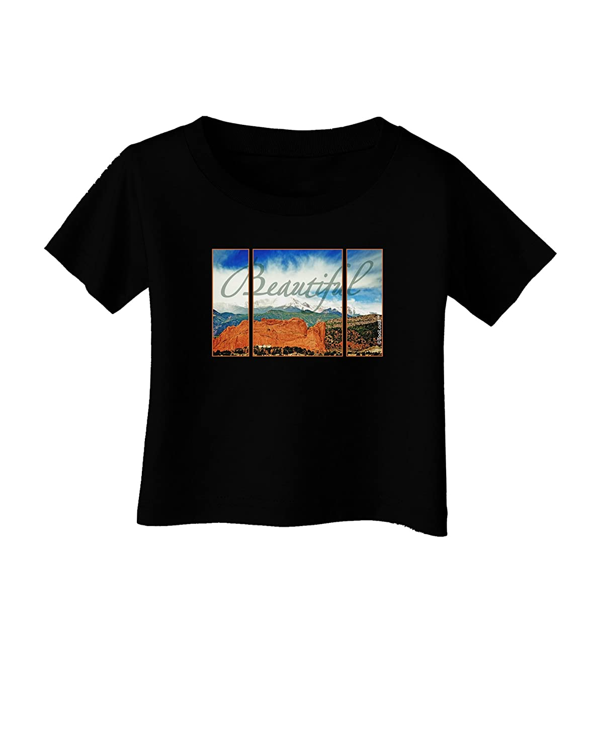 TooLoud CO Beautiful View Text Infant T-Shirt Dark