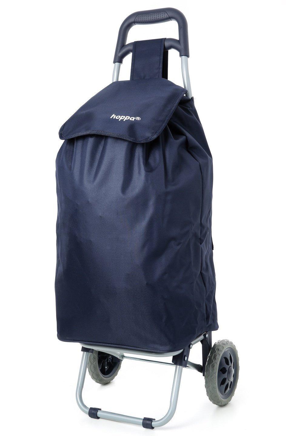 Hoppa litros bolso plegable ligero carrito de compras sobre ruedas Azul Marino
