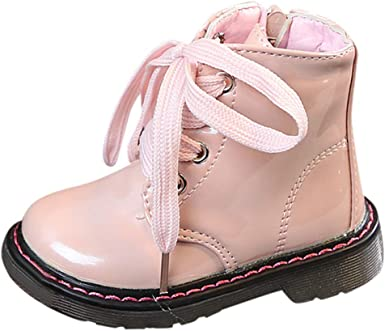 Anxinke Toddlers Kids Autumn Winter Fashion Ankle Boots